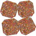 Deny Designs 5 Piece Spring Paisley Coaster Set Bamboo in Yellow, Size 0.25 H x 3.5 D in   Wayfair 13498-csqset