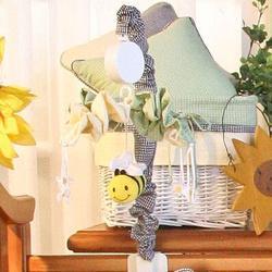 Harriet Bee Deluca Musical MobileFabric in Green, Size 18.0 H x 15.0 W x 15.0 D in | Wayfair 15MBBEE
