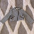 Kate Spade Jackets & Coats | Kate Spade Girls Kids Striped Jacket Gold Hardware | Color: Black/White | Size: 2tg
