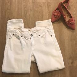 J. Crew Jeans | J.Crew White Cotton Denim Stretch Jeans - Sz 30 | Color: White | Size: 30