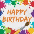 """The Party Aisle™ Art Party Birthday 6.5""""s Tissue Disposable NapkinsPaper in Green/Orange/Red   Wayfair DTC317268NAP"""