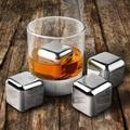 Charlton Home® Mcmillion Ice Cubes Whisky Rock Set Stainless Steel in Gray, Size 1.0 H x 1.0 W x 1.0 D in | Wayfair CUB4