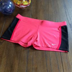 Nike Shorts | Nike Super Short Medium Compression Shorts | Color: Black/Pink/Red/Silver | Size: M