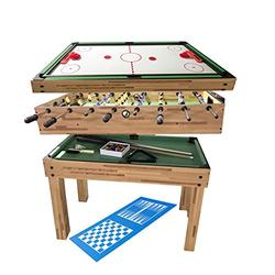 haxTON Multi-Function Game Table Combination Multi Game Table with 4 Games 4 in 1/5 in 1 Game Table Include Air Hockey Table, Pool Table Bowling Table and Hockey Foosball Table for Children