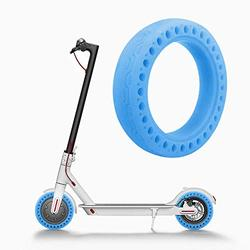 Ourleeme Mi Scooter Tires, Fluorescent Tire, Luminous Solid Tire Honeycomb Rubber Solid Tire Front/Rear Tire Replacement Spare Wheel for Xiaomi M365 Scooter