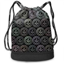 XUJ YOGA Women Men Masonic Faith Hope Charity Freemason Logos Drawstring Bag Theft Proof Lightweight Beam Backpack Gym Sackpack Backpack Soccer Basketball Bag