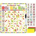 Kanru Chore Chart for Kids, Behavior Chart for Kids, Responsibility Chart, Reward Chart, Incentive Chart, Star Chart, Dry Erase Chart | Magnetic Reward Chart for Multiple Kids | Accommodate 1-3 Kids