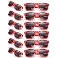 12 Pack Neon Sunglasses Man Women Retro Party Favors Glasses Wholesales Unisex Eyewear Outdoor Costume Accessories