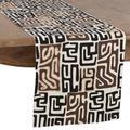 World Menagerie Devorah Kuba Cloth Dining Table RunnerCotton in Black/Gray, Size 72.0 W x 16.0 D in   Wayfair DB0DA7FCBB554DB4A7E12929B65420AB