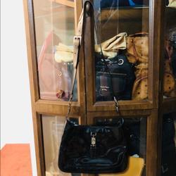Gucci Bags   Authentic Gucci Sling Enamel Bag Black   Color: Black   Size: 12w 8.5h