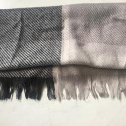American Eagle Outfitters Accessories | American Eagle Gray Color-Block Scarf | Color: Gray/Silver | Size: Os