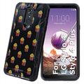 TalkingCase Black Hybrid Dual-Layer Phone Case for LG Stylo 4,Stylo 4 Plus,Cute French Fries Print,Double-Layer,Armor Exterior,Soft Gel Interior Cover,Designed in USA