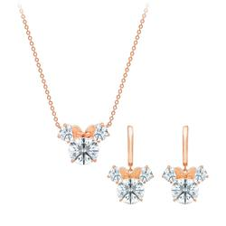 Minnie Mouse Faceted Necklace and Earrings Set by CRISLU - Official shopDisney®