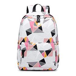 Acmebon Lightweight Kids Backpack Stylish School Bookbag for Teen Women Backpack Purse Triangle