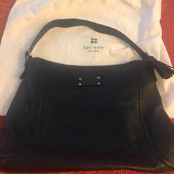 Kate Spade Bags   Kate Spade Leather Shoulder Bag W Leather Tassle   Color: Black   Size: Os