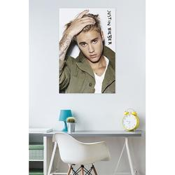 Trends International Justin Bieber - Eyes Paper Print Paper in Green, Size 34.0 H x 22.375 W x 0.125 D in   Wayfair POD14424