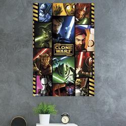 Trends International Star Wars: The Clone Wars - Grid Paper Print Paper in Red, Size 34.0 H x 22.375 W x 0.125 D in   Wayfair POD1353