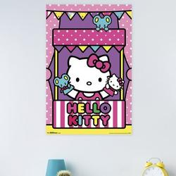 Trends International Hello Kitty - Puppets Paper Print Paper in Pink, Size 34.0 H x 22.375 W x 0.125 D in | Wayfair POD2265