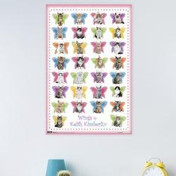 Trends International Kitten - Wings Paper Print Paper in Pink, Size 34.0 H x 22.375 W x 0.125 D in   Wayfair POD6675
