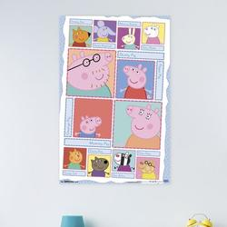 Trends International Peppa Pig - Grid Paper Print Paper in Pink, Size 34.0 H x 22.375 W x 0.125 D in | Wayfair POD14275