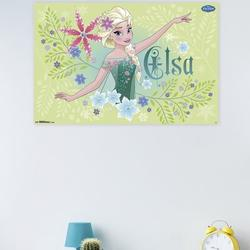 Trends International Frozen Fever - Elsa Paper Print Paper in Green, Size 22.375 H x 34.0 W x 0.125 D in   Wayfair POD13864