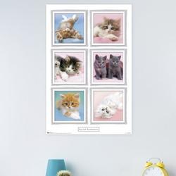 Trends International Kimberlin - Kittens Paper Print Paper in Pink, Size 34.0 H x 22.375 W x 0.125 D in   Wayfair POD9245