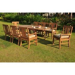 Rosecliff Heights Kevon Luxurious 7 Piece Teak Dining Set Wood in Brown/White, Size 30.5 H x 71.0 W x 40.0 D in   Wayfair