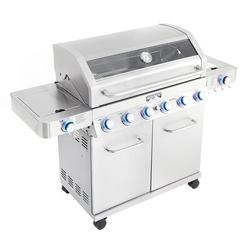 Monument Grills 6-Burner Propane Gas Grill w/ Side Burner Stainless Steel in Gray, Size 45.9 H x 61.8 W x 23.6 D in   Wayfair 77352MB