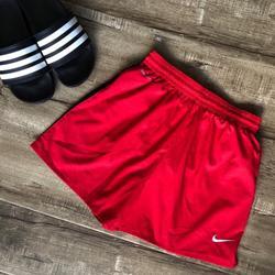 Nike Shorts   Nike Red Black Stripe Dri Fit Girls Soccer Shorts   Color: Black/Red   Size: Lg (Girls)