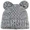 Women's New Era Gray Houston Astros Dual Pom Knit Hat
