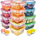 Fullstar Food Storage Containers with Lids - Plastic Food Containers with Lids - Plastic Containers with Lids Storage (17 Pack) - Plastic Storage Containers with Lids Food Container Set