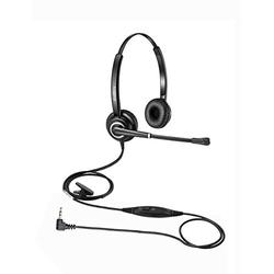2.5mm Headset for Cordless Phone Telephone Headset with Noise Canceling Mic for DECT AT&T ML17929 Vtech Panasonic KX-TCA430 KX-T7630 KX-T7633 Cisco Polycom Call Center Home Office