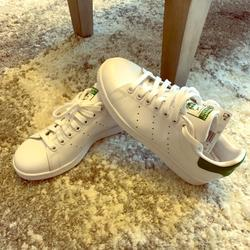 Adidas Shoes | Adidas Womens Originals Stan Smith Casual Shoes | Color: Green/White | Size: 6.5