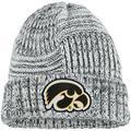 Women's New Era White Iowa Hawkeyes Sideline Team Logo Cuffed Knit Hat