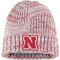 Women's New Era White Nebraska Huskers Sideline Team Logo Cuffed Knit Hat