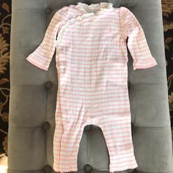 Ralph Lauren One Pieces   Cute Baby Girl Ralph Lauren Pink Overall 6 Months   Color: Pink/White   Size: 6mb