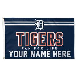 """""""WinCraft Detroit Tigers 3' x 5' One-Sided Deluxe Personalized Flag"""""""