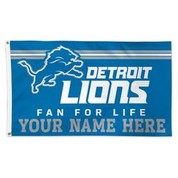 WinCraft Detroit Lions 3' x 5' One-Sided Deluxe Personalized Flag