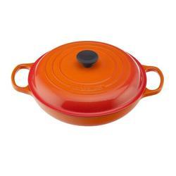 Le Creuset Enameled Cast Iron Round Braiser w/ Lid Cast Iron/Enameled in Orange, Size 4.6 H x 13.8 W in   Wayfair LS2532-262SS