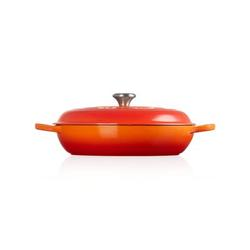 Le Creuset Enameled Cast Iron Round Braiser w/ Lid Cast Iron/Enameled in Orange, Size 5.75 H x 16.5 W in | Wayfair LS2532-322SS