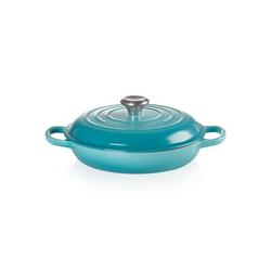 Le Creuset Enameled Cast Iron Round Braiser w/ Lid Cast Iron/Enameled in Blue, Size 4.6 H x 13.8 W in | Wayfair LS2532-2617SS