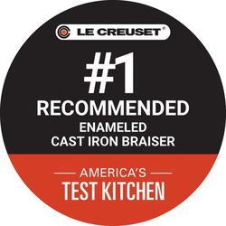Le Creuset Enameled Cast Iron Round Braiser w/ Lid Cast Iron/Enameled in Blue, Size 5.75 H x 16.5 W in   Wayfair LS2532-3259SS