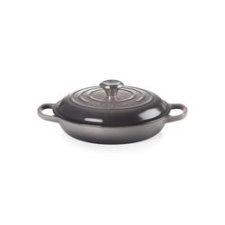 Le Creuset Enameled Cast Iron Round Braiser w/ Lid Cast Iron/Enameled in Gray, Size 4.6 H x 13.8 W in   Wayfair LS2532-267FSS