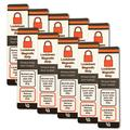 10 Count Value Pack - Lockdown Magnetic Strips for School Security Lockdowns - Simple Method to Lock Doors Quickly