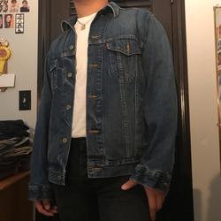 Levi's Jackets & Coats   Classic Dark Denim Jacket   Color: Blue   Size: L
