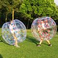Ukiki Bubble Balls Bumper Ball Boules de Pare Chocs Gonflables 1.5M 5FT Diamètre 2Pcs Heurtoir Corporel Humain Hamster Ball Bubble Soccer Ball Adultes et Enfants