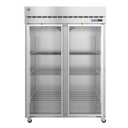 "Hoshizaki R2A-FG SteelHeart 55"" Two Section Reach In Refrigerator, (2) Left/Right Hinge Glass Doors, 115v"