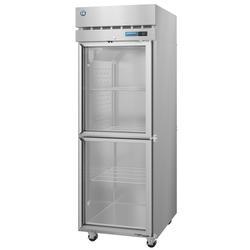"Hoshizaki R1A-HG SteelHeart 27 1/2"" One Section Reach In Refrigerator, (2) Right Hinge Glass Doors, 115v"