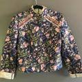 Free People Jackets & Coats | Free People Light Crop Printed Jacket | Color: Blue/Pink | Size: Xs