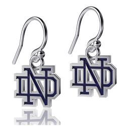 Women's Dayna Designs Notre Dame Fighting Irish Silver Enamel Dangle Earrings